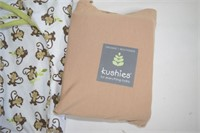 Kushies Fitted Crib Sheet- organic & Swaddle