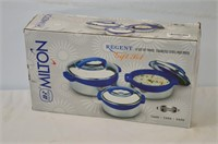 Milton Set of 3 Stainless Steel Hot Pots