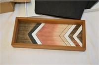 Grp, of Decorative Trays, Log Set, etc.