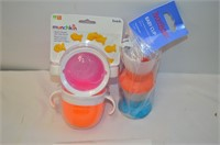 Grp, of Baby Plates, Cups, Snack Catcher
