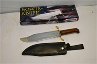 "Bowie Knife with Sheath, 10"" Blade"