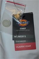 Dickies Women's Chef Classic Coat Size xs