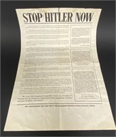 Stop Hitler Now Poster