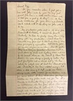 Letter Elaine wrote to Fizz in 1951