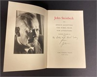 Acceptance Speech John Steinbeck The Nobel Prize