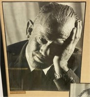 Two framed Photos of John Steinbeck - Noble Prize