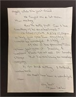 Letter from a fan and Elaines responses