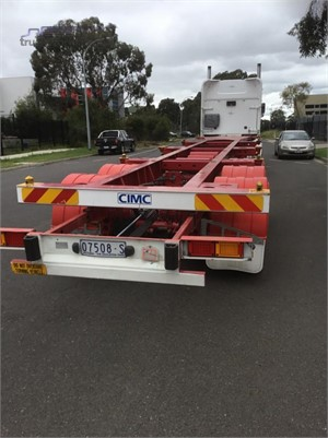 2015 Cimc Skeletal Trailer Hume Highway Truck Sales - Trailers for Sale