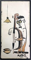 Frank Zappa 1950s Original Artwork of Beatnik