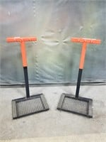 Two Metal Heavy Tool Stands.