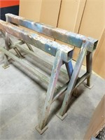 "Two Steel ""a"" Framed Saw Horses/ Table Legs. Each"