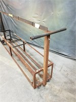 Long Rolling Metal Cart. Dimensions On Final