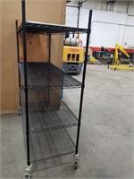 Metal Adjustable Rolling Rack. Measurements On