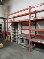 Orange Industrial Shelving Unit With Four
