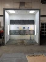 600v, Vented Spray Booth. Florescent Lighting.
