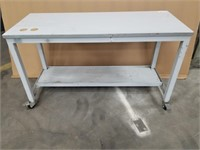 Rolling Work Bench. Metal Base. Measurements In