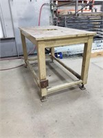 All Steel Work Bench. Adjustable Feet For Height.