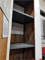 Large, Tall Painted Shelving Cabinet Measurements