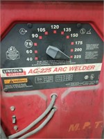 Lincoln Electric Ac - 225 Arc Welder. On Metal