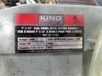 "King Industrial 7"" X 12"" Dual Swivel Metal"
