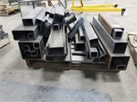 Pallet Skid Full Of Various Lengths Of Steel. All