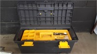 Holt plastic tool box and 2 lights