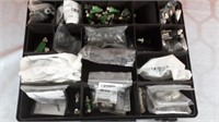 Small hardware organizer with contents