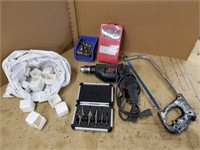 Lot to include drill bits, step drill uni-bits,