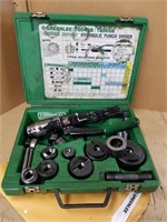 Greenlee* hydraulic Punch Driver Kit.