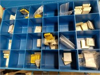Storage organizer with contents including various