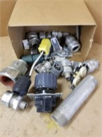 Box lot electrical components.