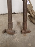 """Two conduit pipe benders. 1/2"""" and 3/4"""" and"""