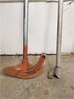 """Two conduit pipe benders. 1"""" EMT 3/4"""" rigid."""