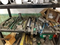 Steel shelf with all metal contents and upright