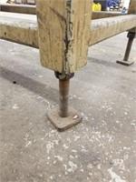 Adjustable legs.  Steel Work Bench. Heavy and