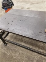 Solid steel Work Bench. Heavy and sturdy.