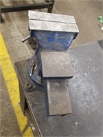 """Solid steel Work Bench. Pipe vice and 6"""" vice."""