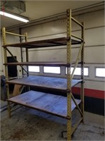 Industrial shelving unit. Does not come apart.