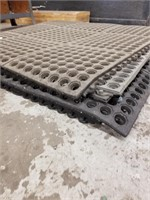 6 Anti-fatigue Mats. Previously used. All roughly