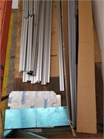 Extruded aluminum framing, assorted lengths,