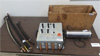 pneumatic control test box, high current cables,