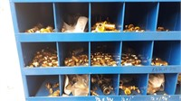 Assorted push lock hose fittings, brass and