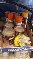 Paint Can Lot, Opened Cans