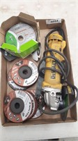 """Dewalt 4 1/2"""" Angle Grinder With Attachments"""