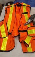 Winch, Hoist, 2 Safety Vests, And Green Bin