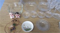 Glassware Lot! Plates, Tea Cups And Sauciers,