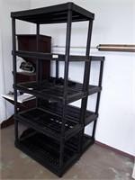 2 Plastic Shelves 5 Tier & 4 Tier