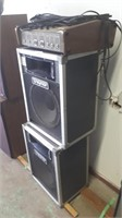 2 Traynor Speakers With Traynor 4200 Mixer