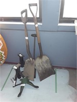 Group Of Shovels  And  Jack Stands