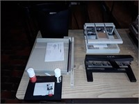 heavy duty 3 hole punches, Card table, stamp kits